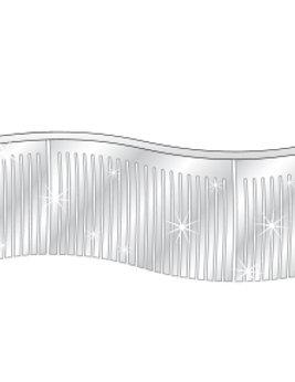 60 Ft. Metallic Fringe Pennant Silver Auto Dealer Supplies Car Lot Dealership