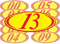 RED & YELLOW 2 DIGIT YEAR OVALS