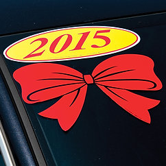 RED BOW DECAL