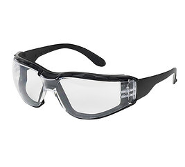 SAFETY GLASSES - FOAM PADDED, 12 PAIRS