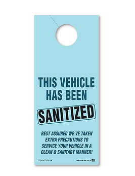 SANITIZED HANG TAGS - BLUE