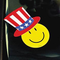 VINYL UNCLE SAM HAT STICKERS