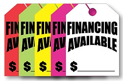 Hang Tags - Financing Available - Large