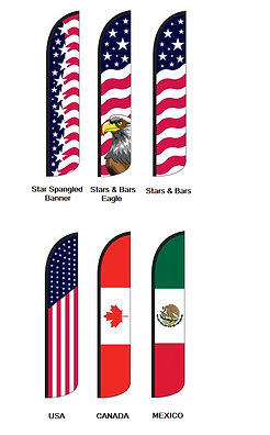 American Wind-Free Feather Flags