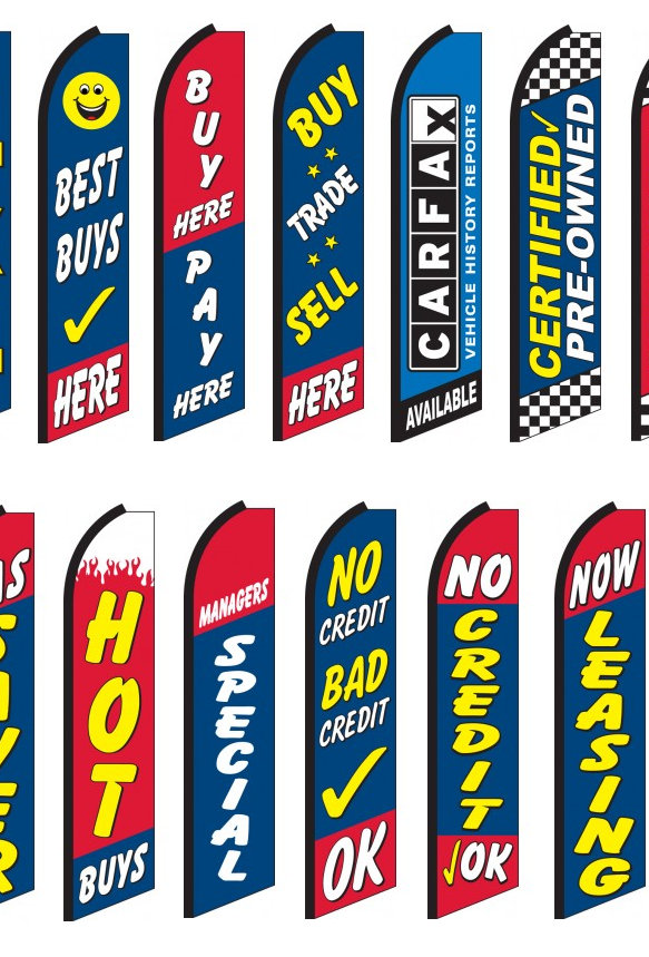 Auto Sales Swooper Feather Flags