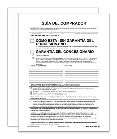EXTERIOR BUYERS GUIDE - AS IS - SPANISH