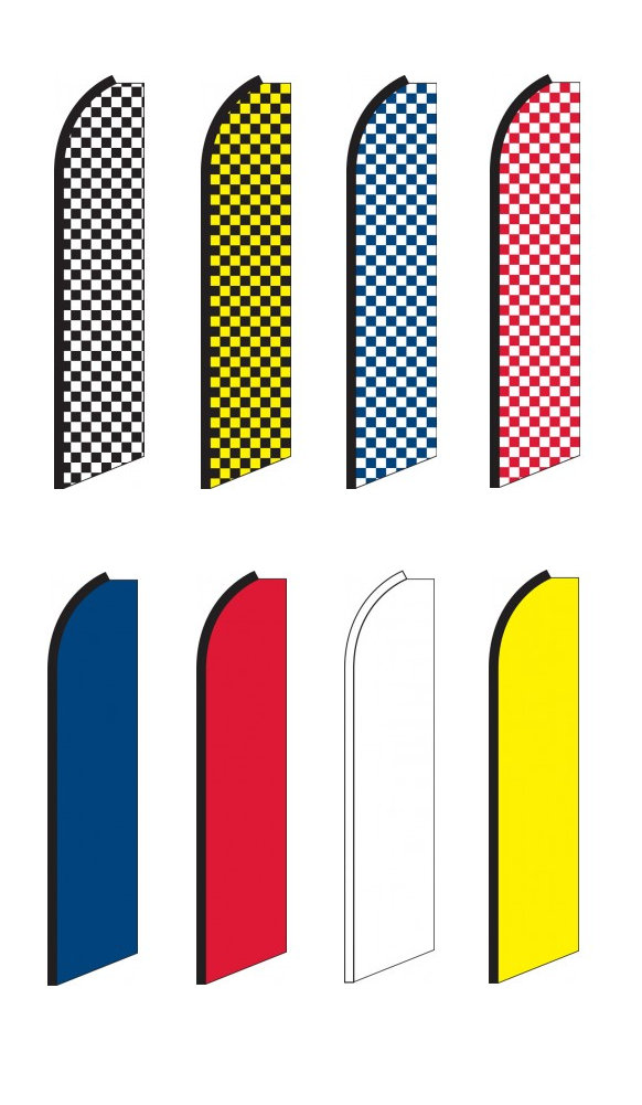 Solid & Checkered Swooper Feather Flags