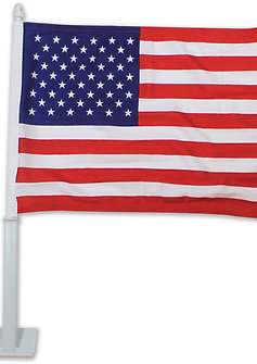AMERICAN CLIP-ON WINDOW FLAGS (one dozen)