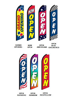 Open Swooper Feather Flags