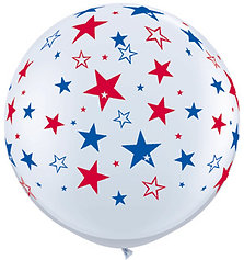 3ft. Red & Blue Star Balloon