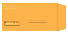 LICENSE PLATE ENVELOPE PRINTED MOIST & SEAL - QTY. 100