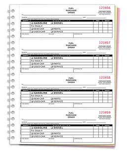 FUEL PURCHASE ORDER BOOK - NC-124-3-FUEL