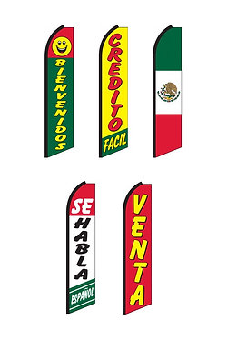 Spanish Swooper Feather Flags