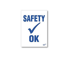 STATIC CLING REMINDERS - SAFETY OK