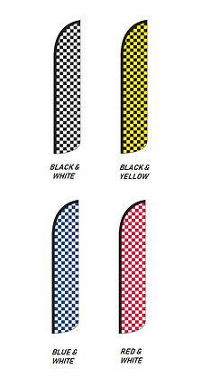 Solid & Checkered Wind-Free Feather Flags