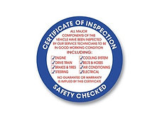"""INSPECTION CIRCLE STICKER- 3"""" FACE ADHESIVE"""