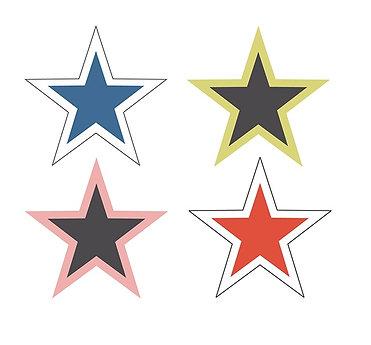 WINDOW ADHESIVE STARS