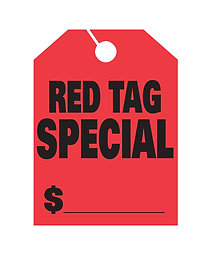 HANG TAGS - RED TAG SPECIAL - LARGE