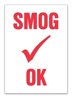 STATIC CLING REMINDERS - SMOG OK