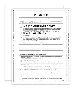 BUYERS GUIDE - IMPLIED WARRANTY - Adhesive On All 4 Sides
