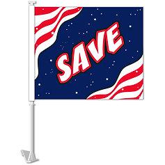 SAVE (PATRIOTIC) CLIP-ON WINDOW FLAG