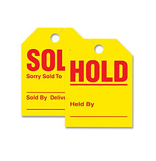 MIRROR HANGER SOLD/HOLD TAGS
