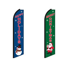 Holiday Swooper Feather Flags