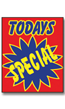 TODAY'S SPECIAL UNDER THE HOOD SIGN