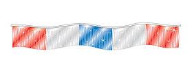 60 Ft. Metallic Fringe Pennant Red, Blue, Silver Auto Dealer Supplies Car Lot De