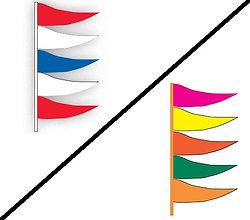 ANTENNA FLAG - PLASTICLOTH - QTY. 12