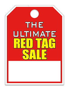 """HANG TAG - THE ULTIMATE RED TAG SALE - 8.5"""" X 11.5"""""""