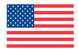 AMERICAN FLAG - NYLON with EMBROIDERED STARS & SEWN STRIPES