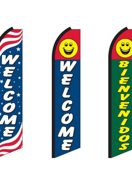 Welcome Swooper Feather Flags