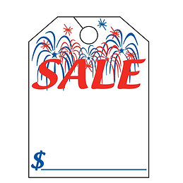 HANG TAG - SALE WITH FIREWORKS