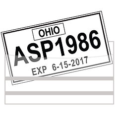 LICENSE PLATE TAG BAGS WITH ADHESIVE - QTY. 100