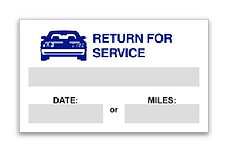STATIC CLING REMINDERS - RETURN FOR SERVICE