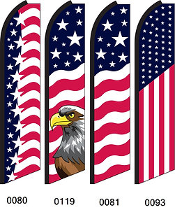 American Swooper Feather Flags