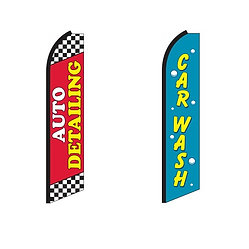 Car Wash & Detailing Swooper Feather Flags
