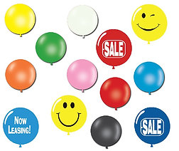 """17"""" LATEX BALLOONS - As low as $19"""