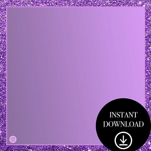 Premade Template(purple glitter)-Instant Download