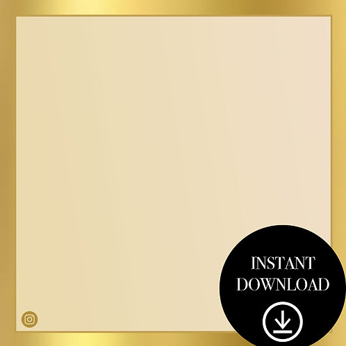Premade Template(gold)-Instant Download
