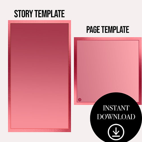 (2)Premade Template(red)-Instant Download