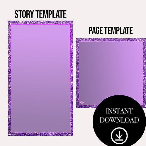 (2)Premade Template(purple)-Instant Download