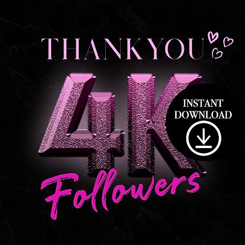 Pink 4k- (Instant Download)