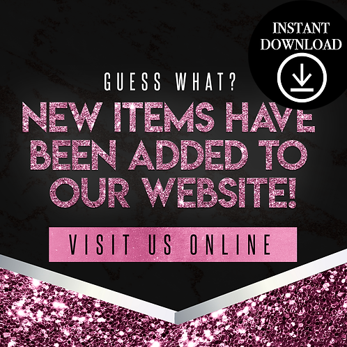 New items(pink)- Instant Download
