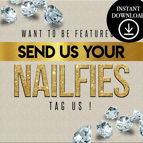 Nailfies(gold)- Instant Download