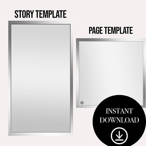 (2)Premade Template(silver)-Instant Download