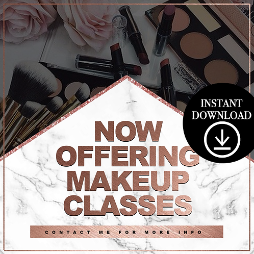 Makeup classes (rosegold) - Instant Download