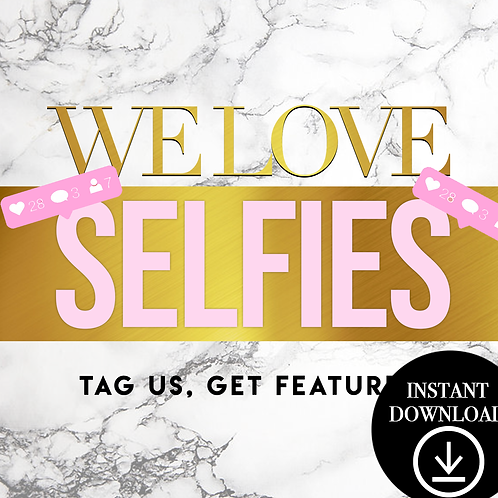 LoveSelfies(Gold)- (Instant Download