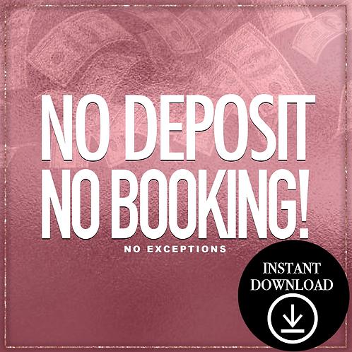 Deposit(Rose gold)- Instant Download